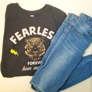 Old Navy Girl's size 10 jeans and tee outfit
